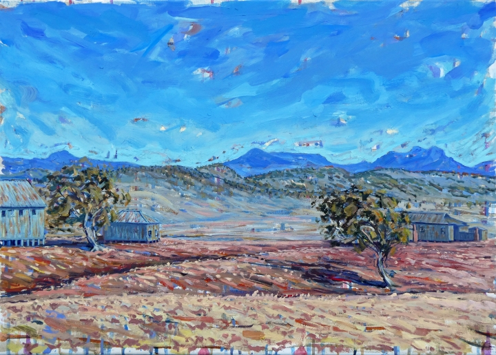 Big Dry, Liverpool Plains, 70cm x 50cm, oil on canvas, 2018, $1200AUD