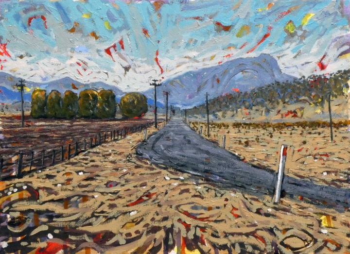 Cotton Country, 50cm x 35cm, oil on canvas, 2018, $750AUD