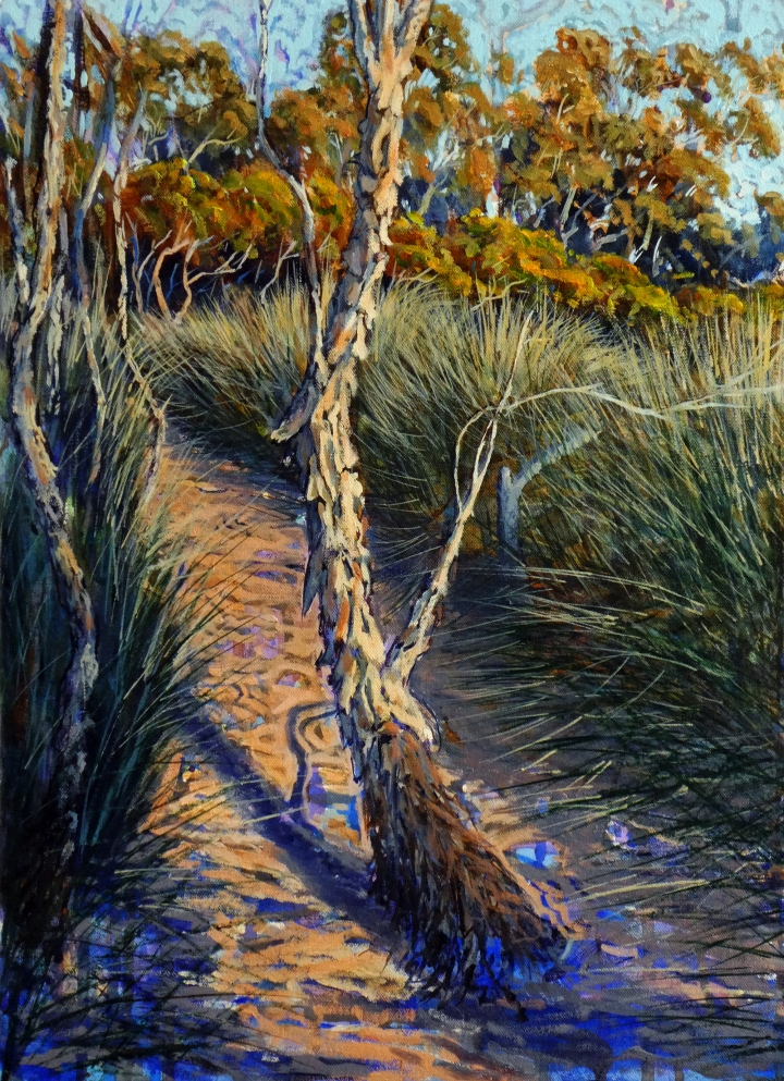 Low Water Path by the Edge, 37cm x 50cm, oil on canvas. 2018