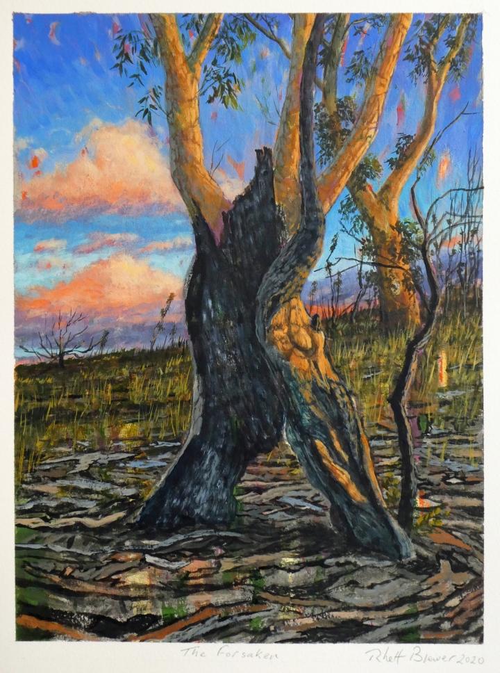 The Forsaken , 39cm x 28cm, acrylic on 649 g.s.m. watercolour paper, 2020